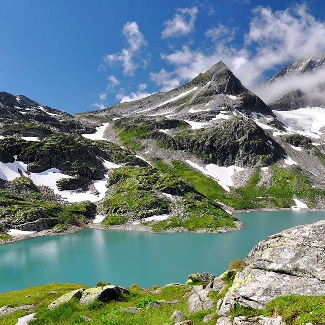 Die Alpen in Ost-Tirol, National Park Hohe Tauern, Austria                                                                                                                                                                                 Mais