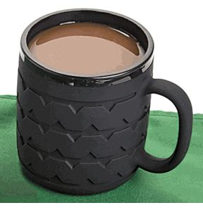 Race through the morning with this fun Tire Tread Mug. Makes the perfect gift for the mechanic, or car lover in your life. By ComputerGear.com