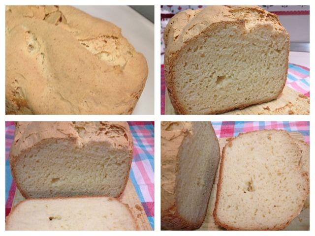 Sin gluten: Pan sin gluten en panificadora.