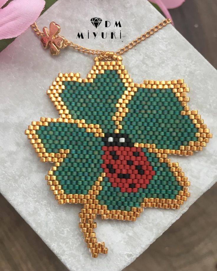 Mutlu Pazarlar☘️ Yonca kolye☘️ _______________________________________________________ #miyuki #marifet #art #takı #fashion #kolye #yonca #kolyeucu #happy #design #tasarim #like4like #handmade #green #jewellery #instalike #likes #trend #moda #instagood #love #instalove #bayan #taki#aksesuar #accessorize #instagram #brick #new #model #