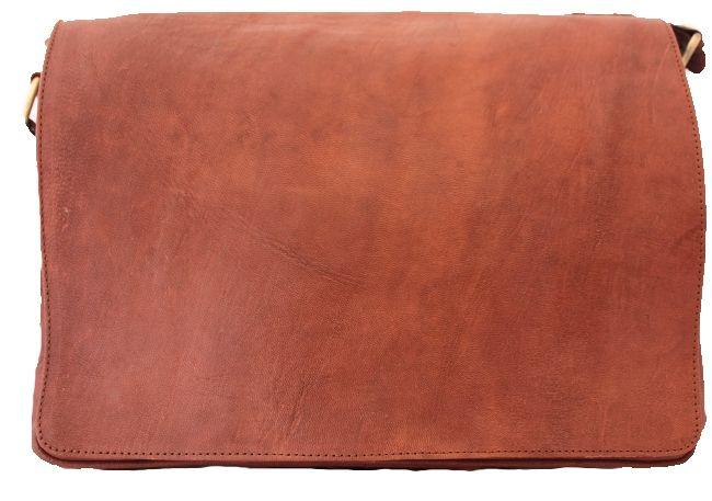 Sacoche PC en cuir élégante marron - Autour du sac - Valenteens Créateurs