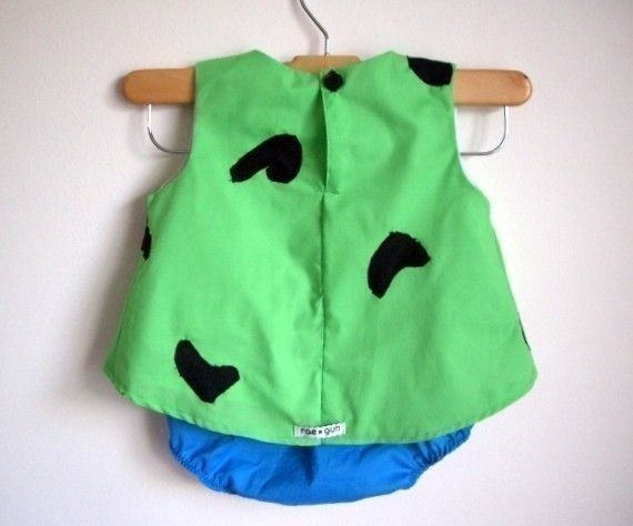 Pebbles Costume baby toddler girl Halloween Top and by RaeGun