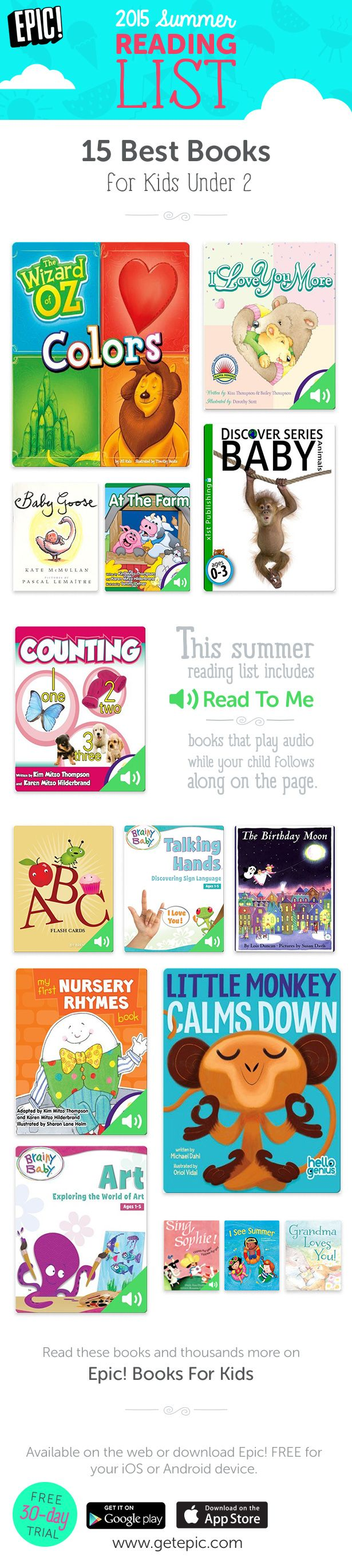 Check Out 15 Of Our Favorite Summer Reading Books For Children Ages 2 And  Under!