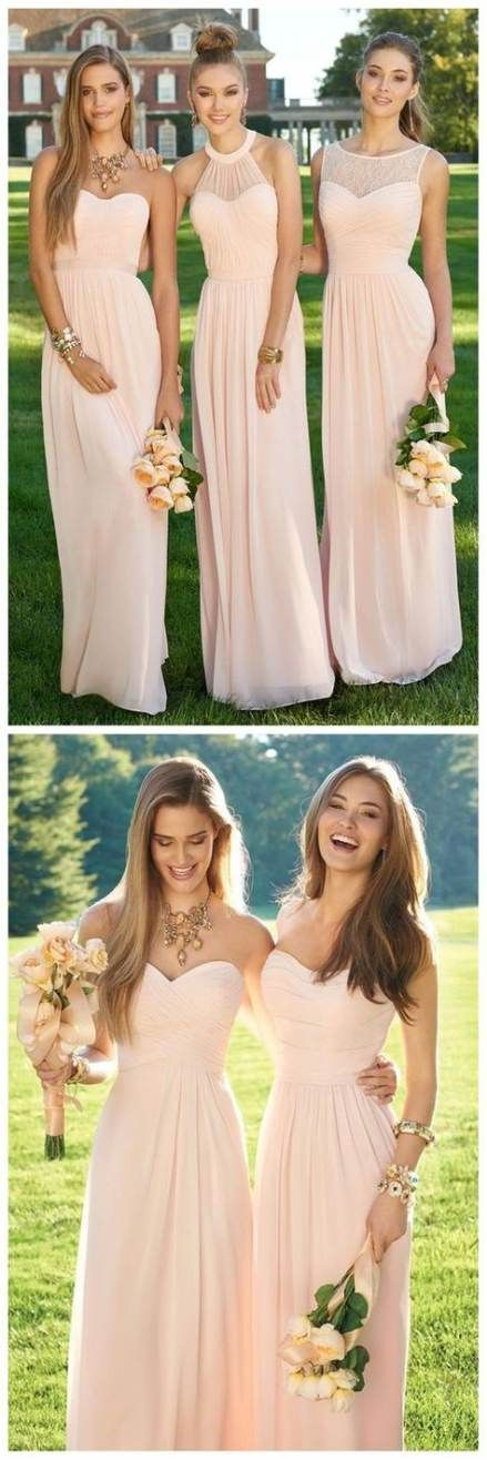 Wedding gowns blush pink bridesmaid dresses 42  Ideas