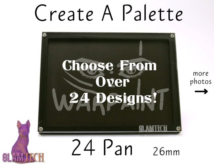 24 Eyeshadow Pan Create Your Own Magnetic Makeup Palette - Custom Makeup Storage - Design Your Own Travel Eye Shadow Palettes - by GlamTech by GlamTech on Etsy https://www.etsy.com/listing/258964101/24-eyeshadow-pan-create-your-own