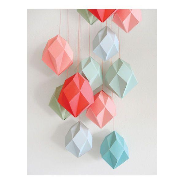 #DIY #Paper Diamant mal berk triplex: met deze berken triplex mal vouw je zelf de mooiste geometrische papieren diamanten. from www.kidsdinge.com