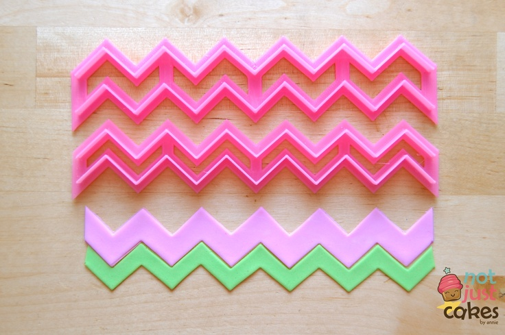 Skinny chevron cutter green cutout pink cut out is our for How to make a chevron template