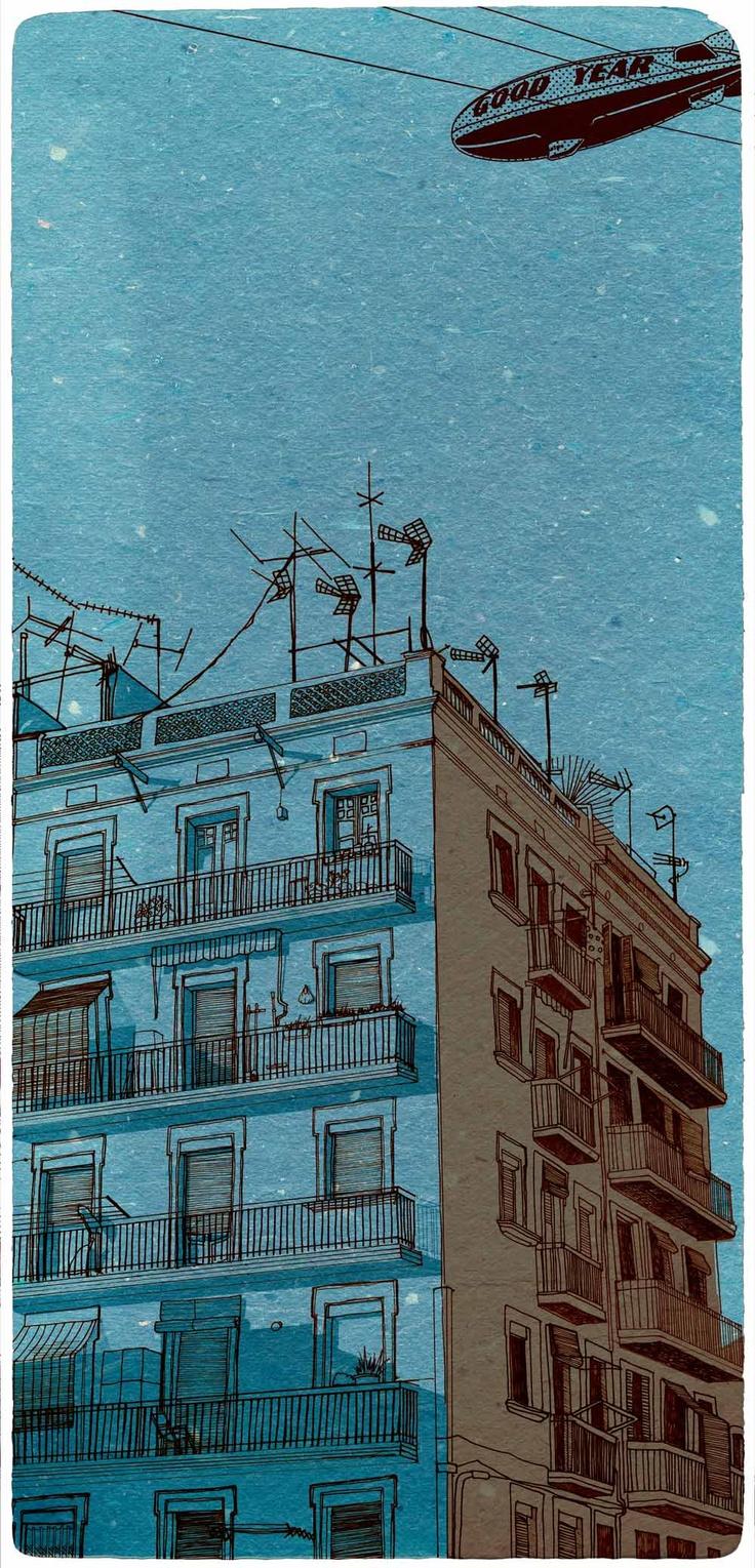 house in Barcelona- dark, by printparty