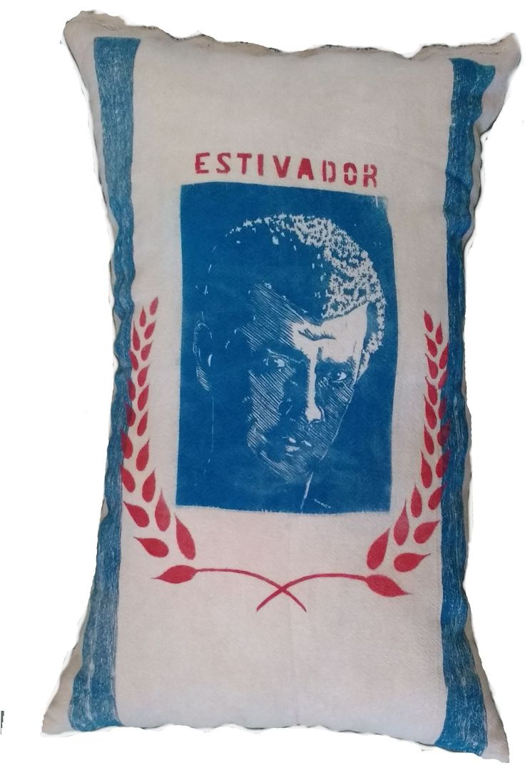 Woodcut on cloth. Title: estivador By Márcia Santtos 2017