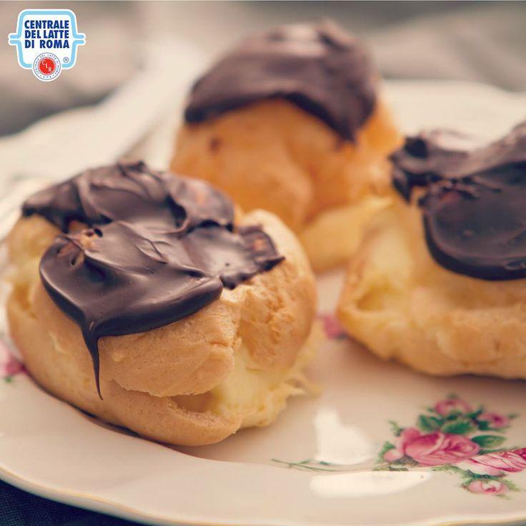 #Bignè alla crema e cioccolato *** Chocolate cream puffs