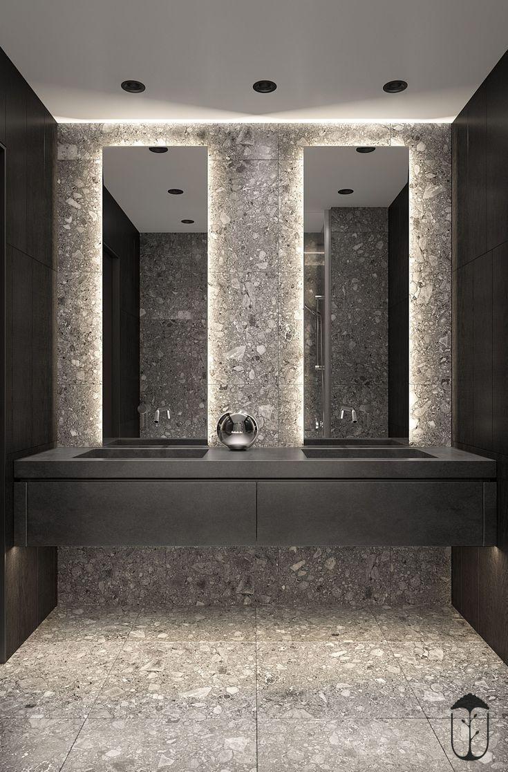 Pin By Una Jacobs On Home Bathroom Mirror Bathroom Design Contemporary Bathroom Mirrors
