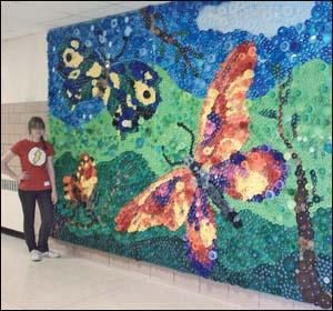 154 best images about recycled art ideas on pinterest for Bottle cap mural tutorial