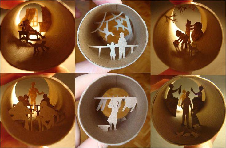 papel: Cartons Rolls, Rolls Art, Cardboard, 3D Paper Crafts, Art De, Of Papell, Cardboard Ideas, Art En, Art Supplies