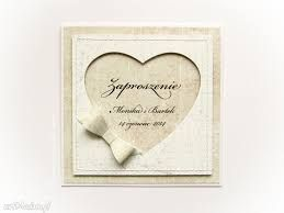 Znalezione obrazy dla zapytania zaproszenia ślubne ręcznie robione