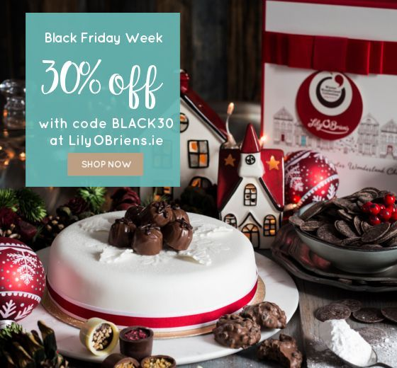 It's #BlackFriday week!! Enjoy 30% off #Chocolate Boxes, #Gifts, and Hampers. Pop to LilyOBriens.co.uk and enter the code Black30 to your shopping bag!