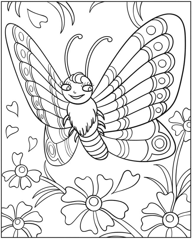 Welcome To Dover Publications Wonder Wings Butterfly Coloring Book SheetsColoring