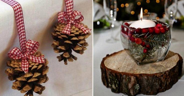 Procesul de pregătire pentru sărbători este întotdeauna plăcut! Deosebit de interesant este să creezi o atmosferă de sărbătoare în casă şi să confecţionezi cu propriile mâini obiectele de decor. Dar cu ce să începem? Hai mai întâi să ne gândim cum să împodobim masa de sărbătoare! Ne face mare plăcere să vă prezentăm câteva idei de decoraţii pentru sărbătorile de iarnă, care credem că vor crea o adevărată atmosferă de poveste! Decoraţii pentru masa de sărbătoare 1. Câteva obiecte de pădure…
