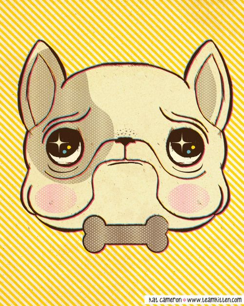 French Bulldog art print  http://teamkitten.storenvy.com/