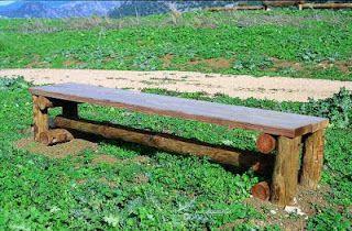 Actividades Escolares: bancos rusticos de madera. muy buenas ideas para jardinería
