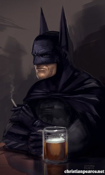 Booze Bat - ChristianPearce | To the Bat Cave... | Pinterest | Batman, Comics and Batman art