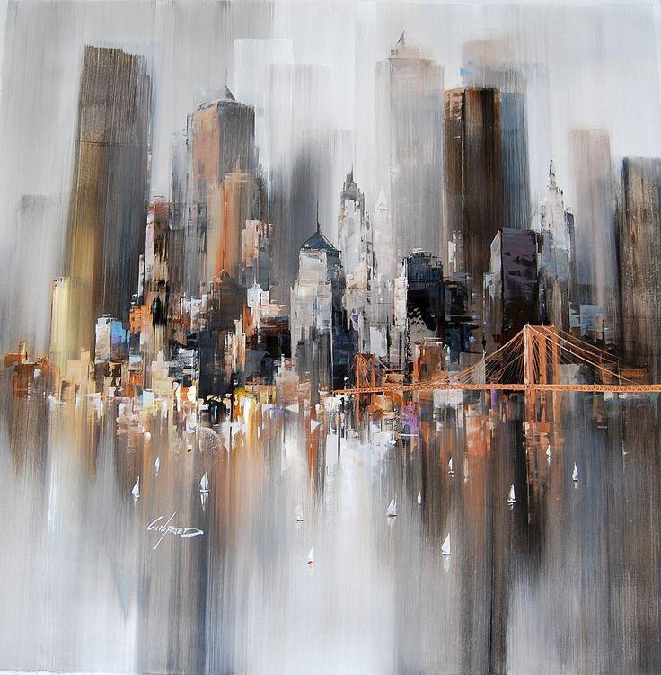 gris ocre immeubles abstrait
