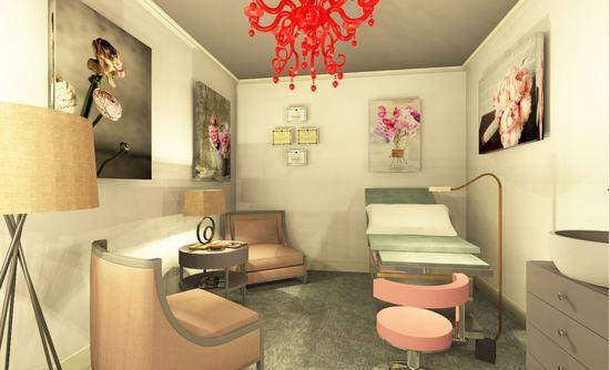 OBGYN exam room design  Midwifery  Office Decor and Prenatal Exam Room in 2019  Clinic design