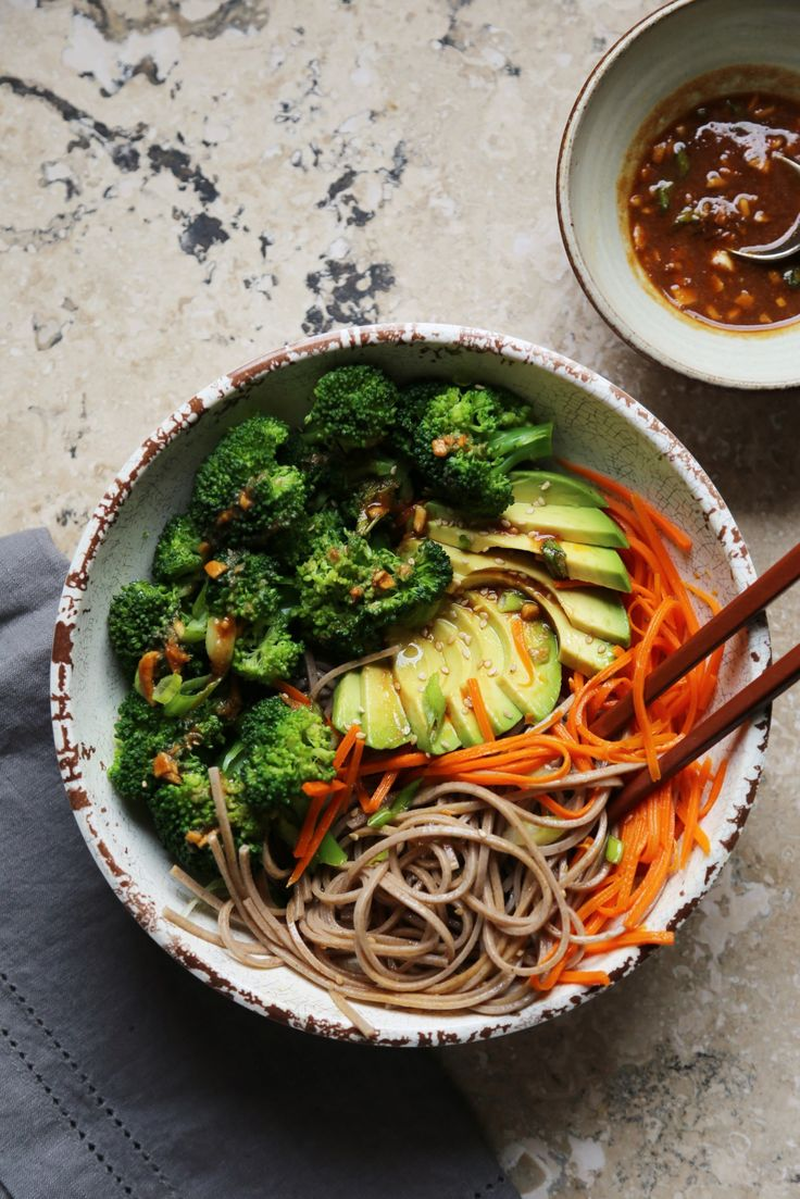 Soba Noodle Buddha Bowl - minus maple syrup, use 100% buckwheat soba