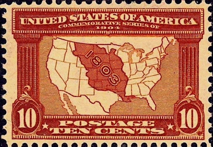 Codex Philately: The 10 cent Louisiana Purchase Map / Le 10 cent l'achat de la…