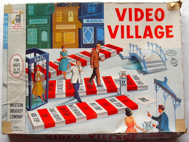 1960 Milton Bradley VIDEO VILLAGE Game Box 1960s Vintage by Christian Montone, via Flickr