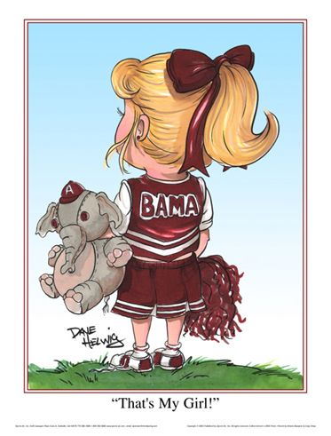 University of Alabama Clip Art | Roll Tide Alabama Crimson Tide Football Player Sports Art Print
