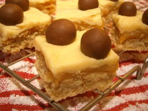 Inspired by Gregg's Toffee Crunch - my recipe for (healthier lower fat) caramel white chocolate shortbread squares.