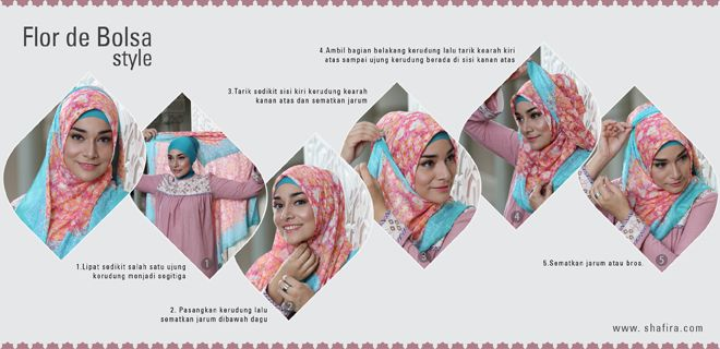 Hijab Style Tutorial, Flor de Bolsa