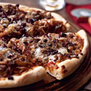 Pizza Recipes Under 300 Calories | Pizza with Caramelized Fennel, Onion, and Olives | MyRecipes.com