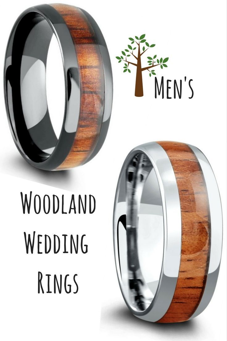 Mens wood wedding rings. These wood wedding rings are ideal for the outdoorsmen /nature lover. The woodland collection are all waterproof rings. These truly make unique mens wedding rings.