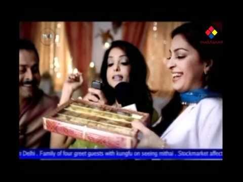 Juhi chawla with Tanushree Dutta & Rajat Roy in Kurkure Commercial Ad - on www.modelspoint.com