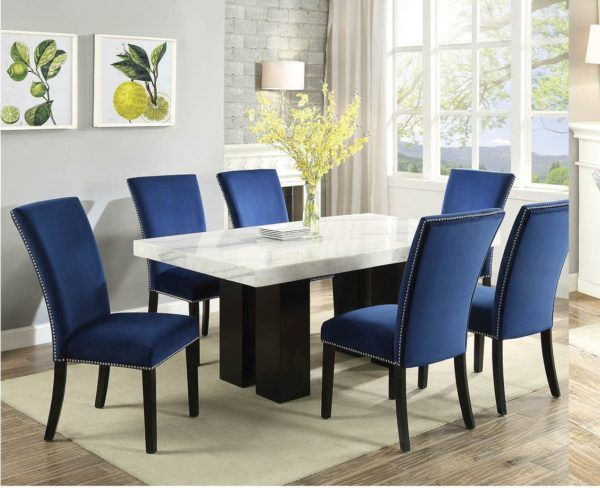 Chairs For Dining Room Table Efistu Com In 2020 Rectangle Dining Table Marble Dining Dining Table
