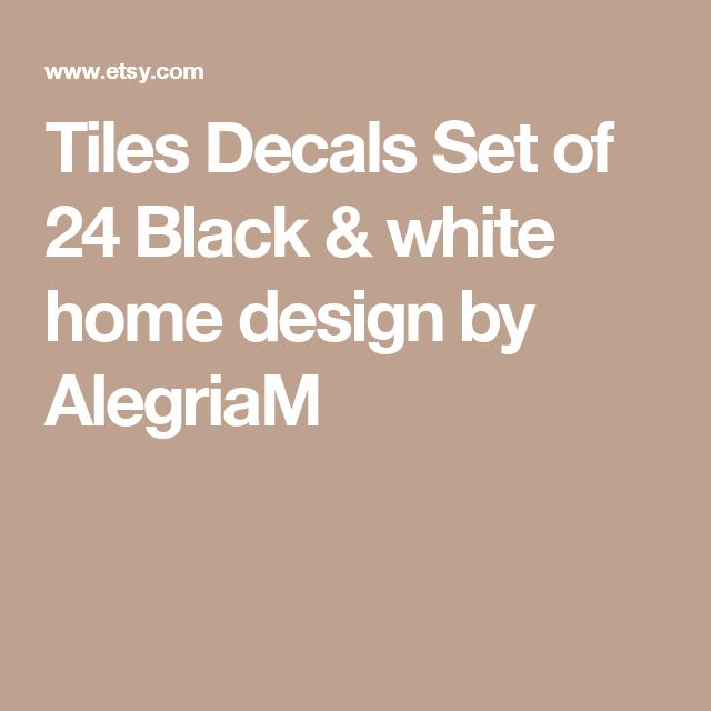 Tiles Decals Set of 24 Black & white home design by AlegriaM