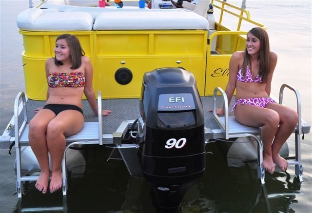 New 2012 Bentley Pontoon Boats 203 Cruise Pontoon Boat with Double Ladders. They are Happy!