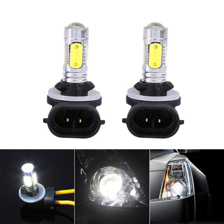 2x Mobil Truk 5 COB LED 7.5 W 6500 K HID Putih Fog Lights DRL Umbi H27W/2 881
