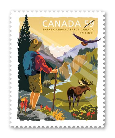 the most beautiful collectable stamp | Parks Canada, 100th Anniversary