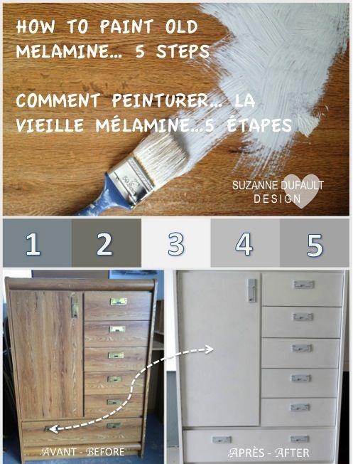 Suzanne Dufault DesignISmall House Addict Blog! : Rajeunissez la Vieille Mélamine - Rejuvinate Old Melamine!