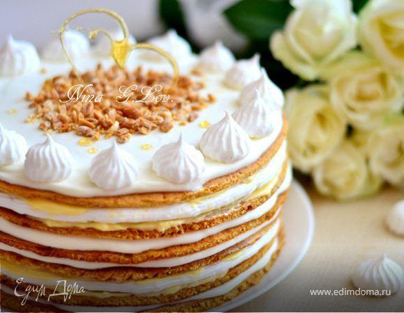 """Медовый торт """"Полет шмеля"""" (на мед), или """"Мое сладкое утро"""". Ингредиенты: яйца куриные, мед, водка"""