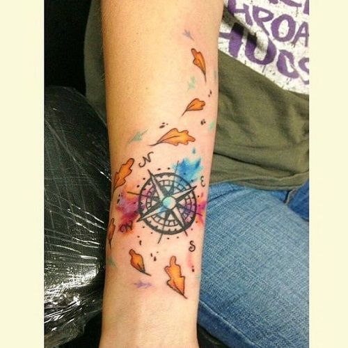 ... | Pocahontas tattoos Watercolor compass tattoo and Oregon tattoo