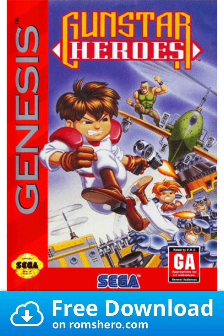 Download Gunstar Heroes Sega Genesis Sega Mega Drive Rom Sega Mega Drive Sega Sega Genesis
