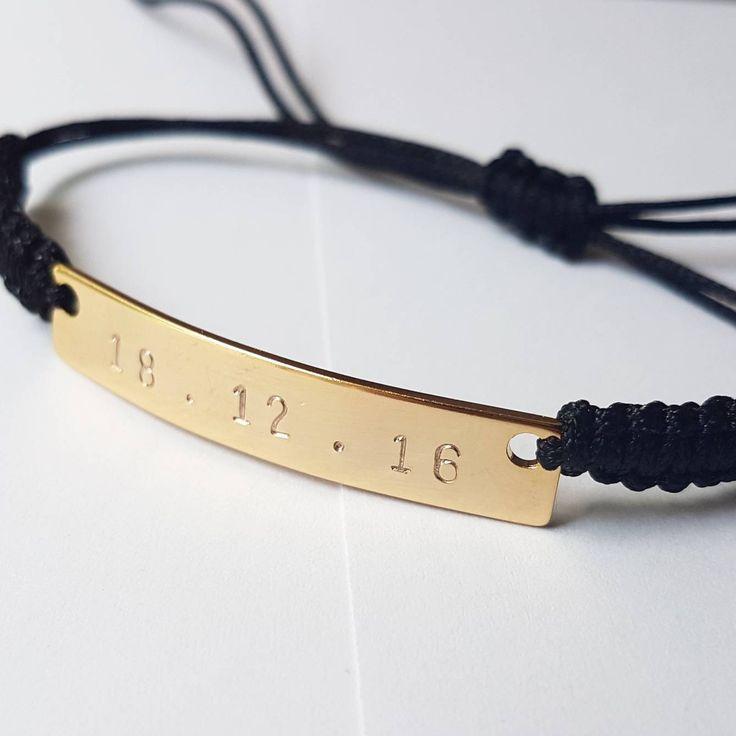 His and hers bracelet, personalised bracelet, 14k filled gold bar name bracelet,  choose any name/number. Includes 2 bracelets.
