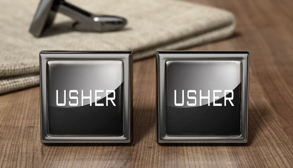 Usher Cufflinks  Wedding Cufflinks  Cuff Link  by OurCufflinkShop