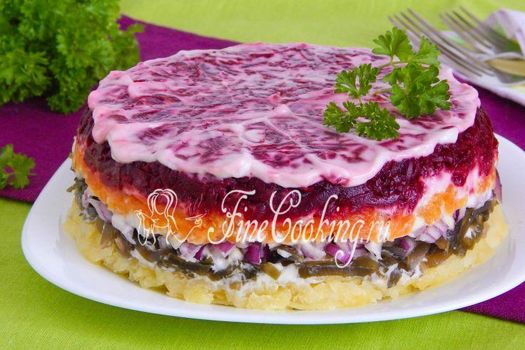 Салат со свеклой и морской капустой - рецепт с фото