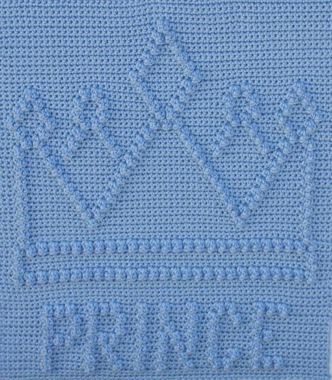 Prince Crown Baby Blanket pattern on Craftsy.com $4