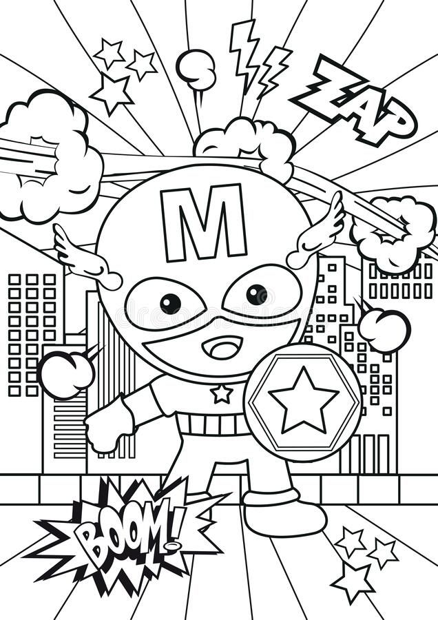 Dreamstime Illustration Art Vector Template Coloring Page Book Drawing Color Kids C Coloring Pages Superhero Coloring Pages Coloring Pages For Kids
