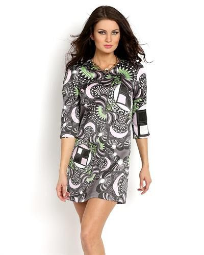 Versace Collection Graphic Print Dress